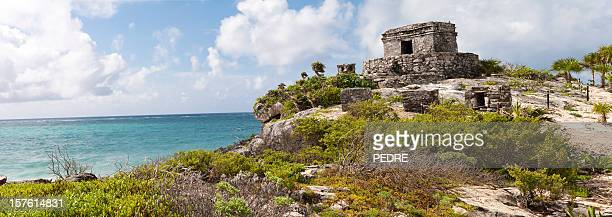 tulum - old ruin stock pictures, royalty-free photos & images