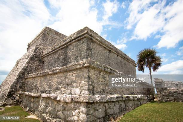 tulum ruins, mexico, maya ruin. - mayan riviera stock photos and pictures