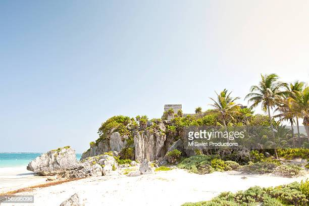 tulum ruins - mayan riviera stock photos and pictures