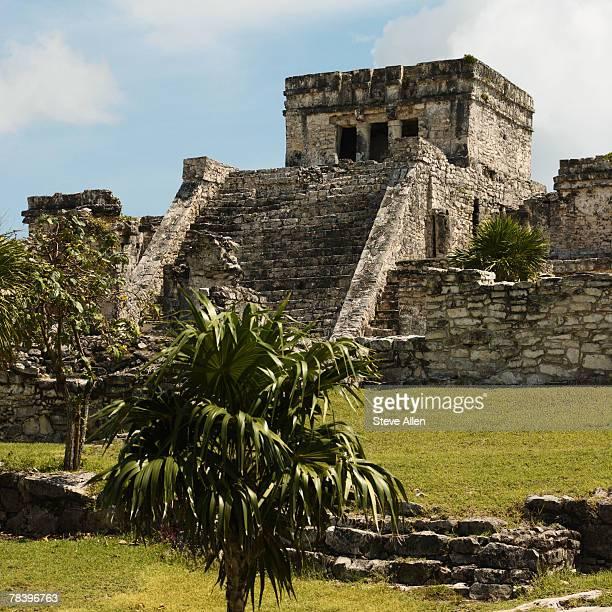 Tulum temple, Mayan ruins, Yucatan