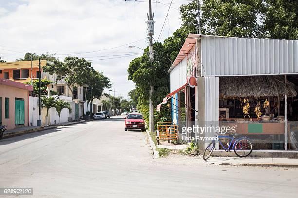 tulum village in mexico - tulum mexico stock photos and pictures