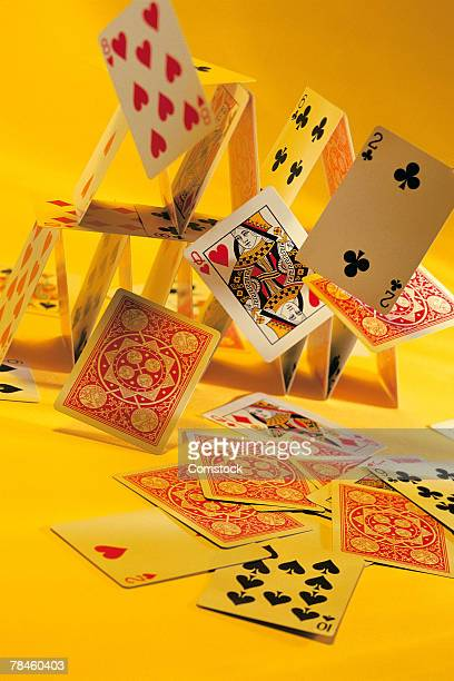 Tumbling house of cards