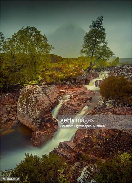 Tumbling stream Buachaille Etive Mor, Scottish highlands.