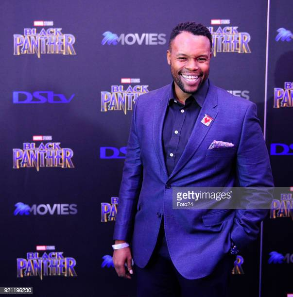 Tumisho Masha during the Black Panther movie premiere at Montecasino on February 16 2018 in Fourways South Africa Your culture in South Africa...