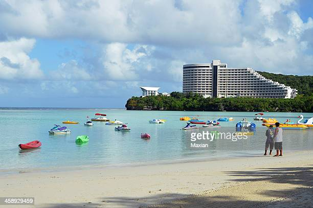 tumon beach - guam stock pictures, royalty-free photos & images