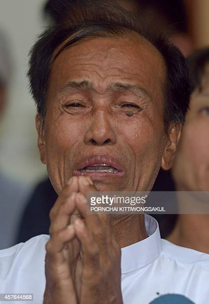 U Tun Tun Htike father of Myanmar migrant worker Win Zaw Tun who was charged with the murder of of British tourists David Miller and the rape and...