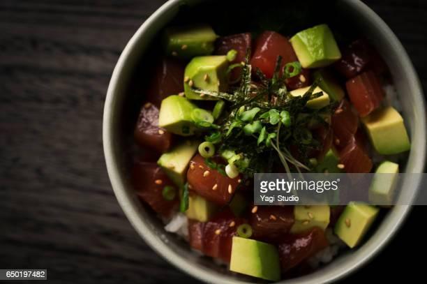 Tuna and avocado bowl