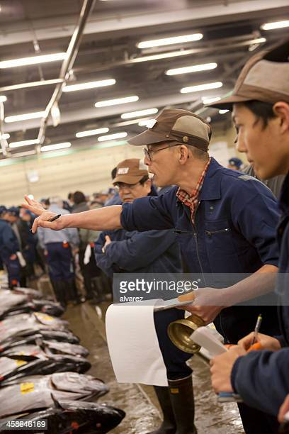 マグロの競り、東京の魚市場