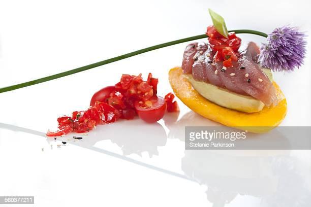 Tuna Avocado and Mango