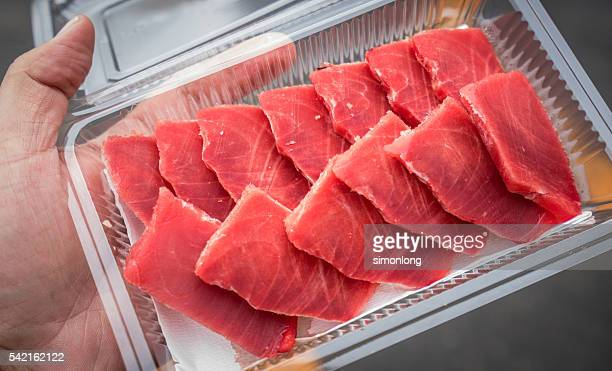 tuna fish sashimi - yellowfin tuna stock photos and pictures
