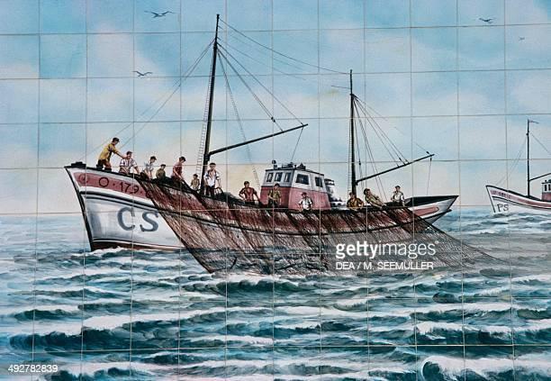 Tuna fishing Azulejos Portugal 20th century
