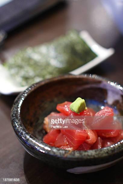 Tuna in wasabi sauce