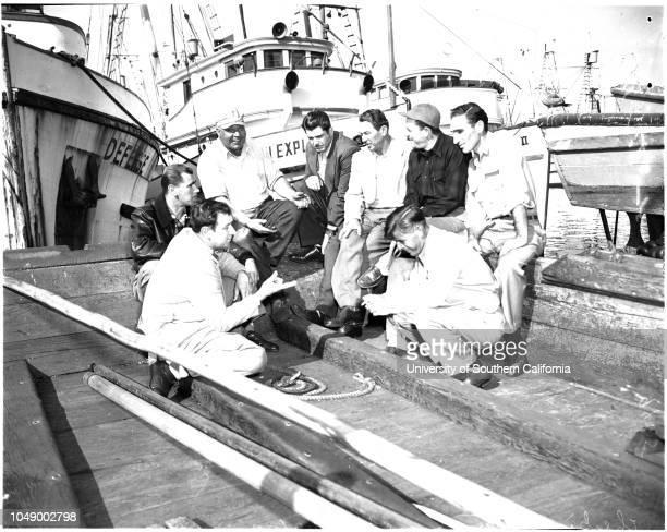 Tuna Industry crisis 10 January 1952 Tony Barcott Pete Framengo John Gargas Andy Rufkin Pete Akalovich John J Evich John Stanovich John Burich...