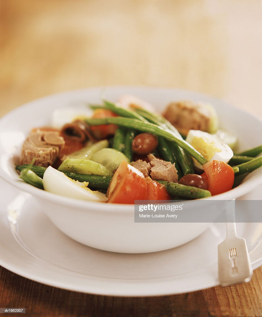 Tuna Nicoise Salad in a Bowl : Stock Photo
