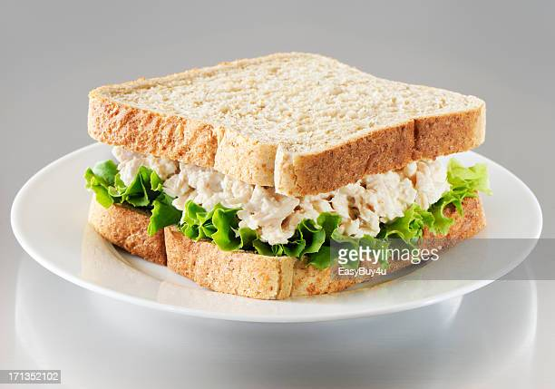 tuna salad sandwich - mayonnaise stock pictures, royalty-free photos & images