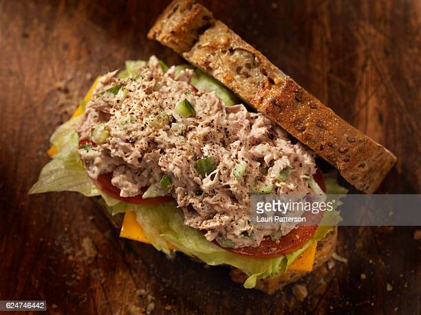Tuna Salad Sandwich with Cheese, lettuce and Tomatoes