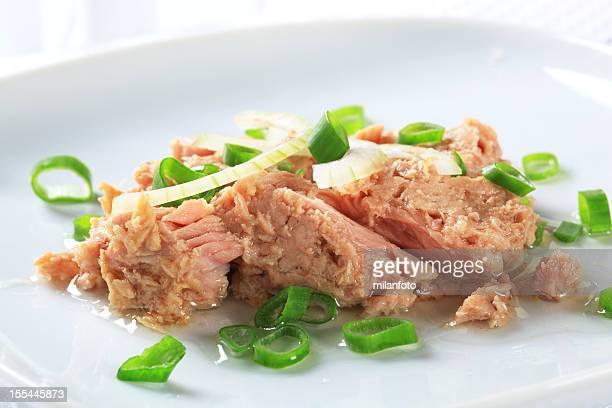 Ensalada de atún con cebolla de primavera
