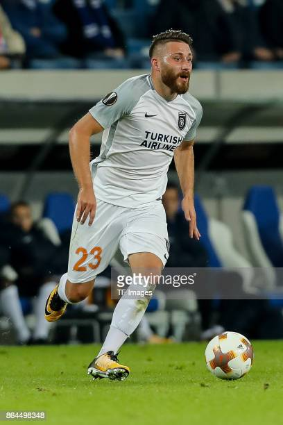 Tunay Torun of Istanbul Basaksehir controls the ball during the UEFA Europa League Group C match between 1899 Hoffenheim and Istanbul Basaksehir FK...