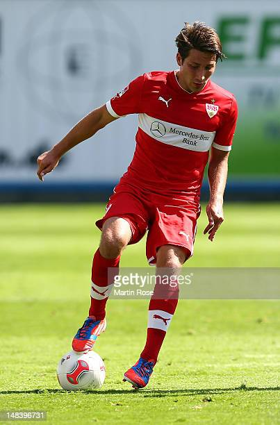 Tunay Torun of Stuttgart runs with the ball during the friendly match between Hansa Rostock and VfB Stuttgart at DKB Arena on 15 2012 in Rostock...