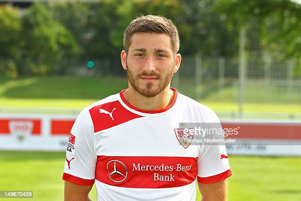 Tunay Torun poses during the VfB Stuttgart team presentation at Stuttgart's training ground on August 2 2012 in Stuttgart Germany