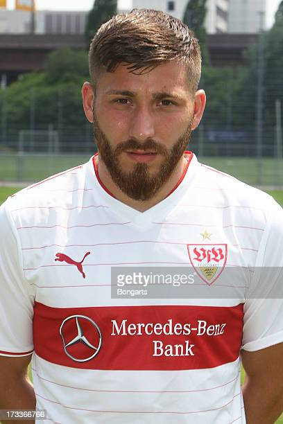 Tunay Torun poses during the VfB Stuttgart team presentation on July 10 2013 in Stuttgart Germany