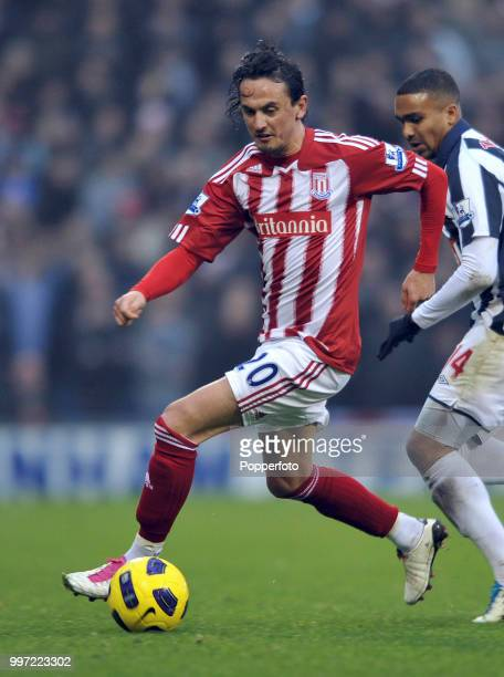 Tuncay Sanli of Stoke City in action during the Barclays Premier League match between West Bromwich Albion and Stoke City at The Hawthorns on...
