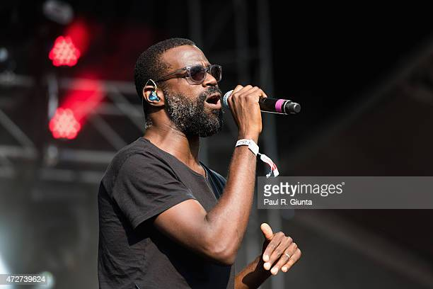 Tunde Adebimpe of TV on the Radio performs on stage during day 1 of the 3rd Annual Shaky Knees Music Festival at Atlanta Central Park on May 8, 2015...