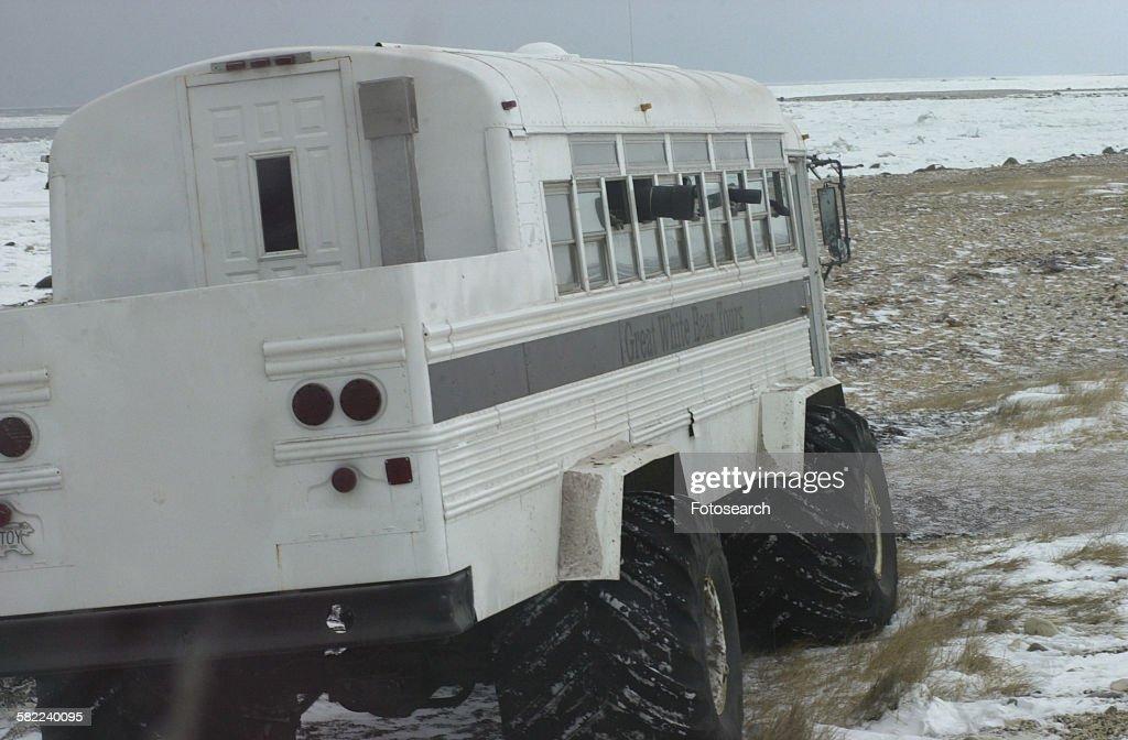 Tundra Buggy at Churchill Manitoba : Stock Photo