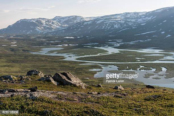 Tundra landscape in Northern Sweden