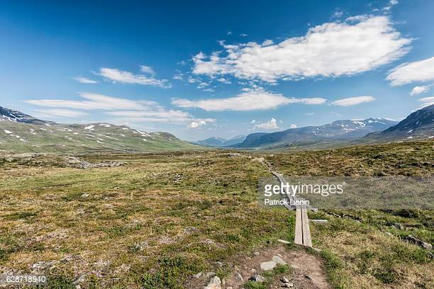 Tundra landscape in Northern Sweden