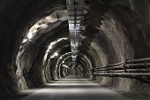 Tunel incline with concrete road