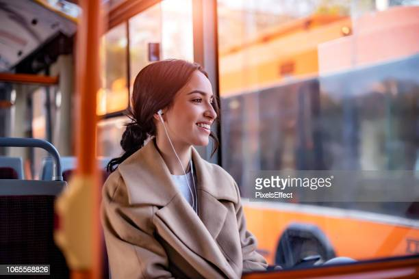 tunes to travel by - bus stock pictures, royalty-free photos & images