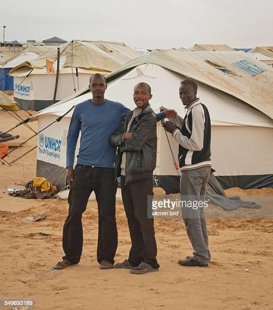 Flüchtlingslager Choucha Camp Zelte der UNHCR