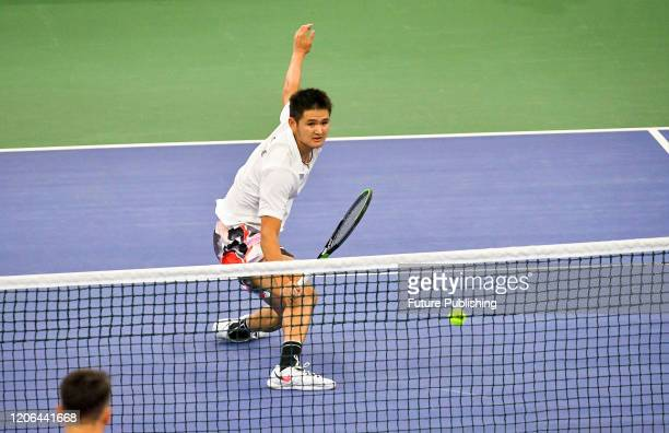 Tung-Lin Wu of Chinese Taipei is pictured during a match against Sergiy Stakhovsky of Ukraine during the Davis Cup World Group I First Round...
