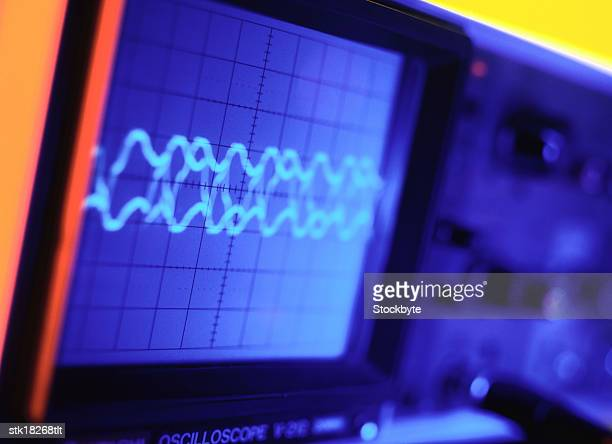 tungsten close-up of an electronic measuring device - oscilloscope stock pictures, royalty-free photos & images