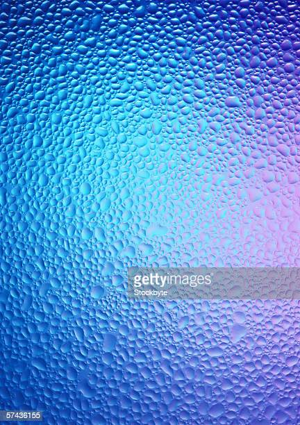 tungsten toned view of a surface covered with moisture