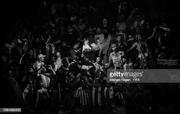 ES Tunis fans during the FIFA Club World Cup UAE 2018 5th Place Match between ES Tunis and CD Guadalajara on December 18 2018 in Al Ain United Arab...