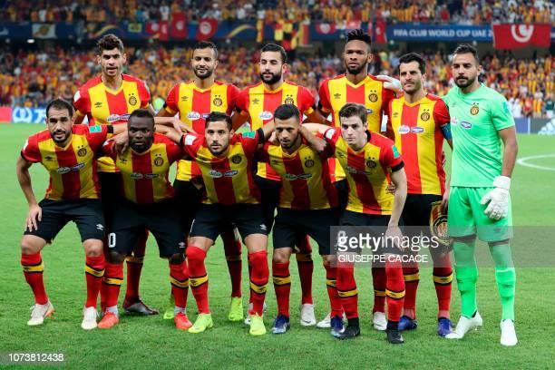 Tunis players ES Tunis' defender Sameh Derbali ES Tunis' midfielder Franck Kom ES Tunis' midfielder Ghailene Chaalali ES Tunis' forward Anice Badri...