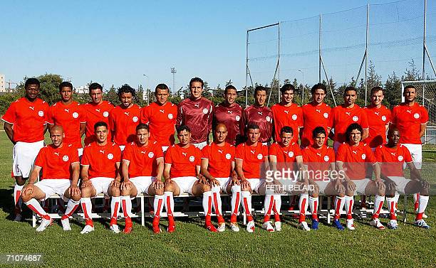 The players of Tunisia's national football team pose for the official picture Radhi Jaidi Issam Jomaa David Jammali Sofiene Melliti Jawhar Mnari...