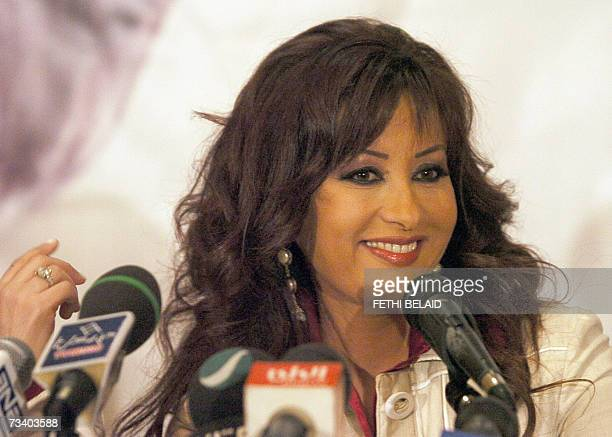Tunisian star singer Latifa speaks during a press conference held for the release of her new album 'Maalumat Akida' in Tunis 23 February 2007 Latifa...
