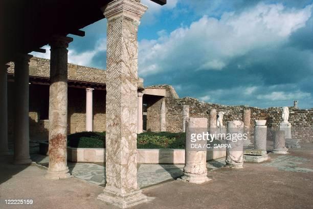 Tunisia Carthage archaeological site Roman villa ruins Portico