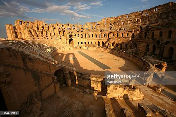 tunisia, colosseum in el djem - 円形劇場 ストックフォトと画像