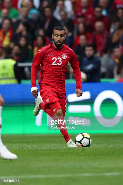 Tunisia forward Naim Sliti during the Portugal vs Tunisia International Friendly match on May 28 2018 in Braga Portugal