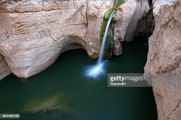 Tunisia, lake with waterfall at Tamerza