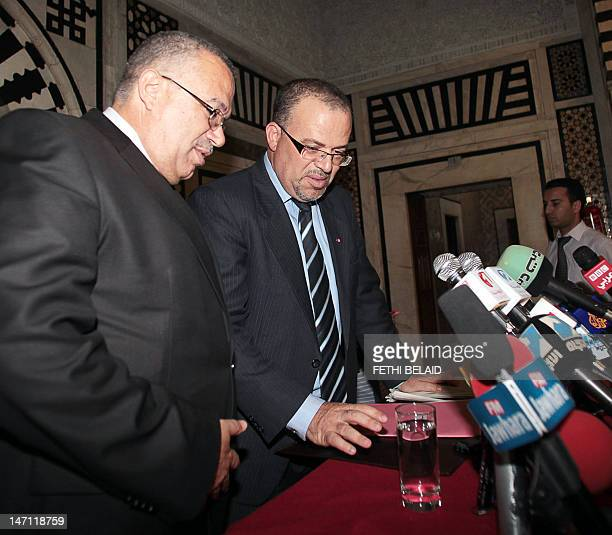 Tunisia Minister for Human Rights and Transitional Justice and spokesman for the government Samir Dilou and Tunisian Justice Minister Noureddine...