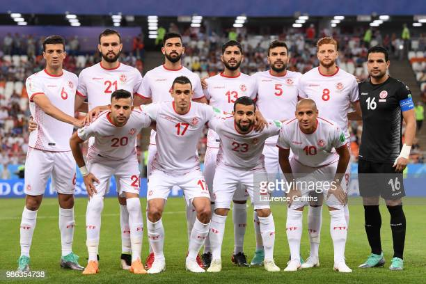 Tunisia pose prior to the 2018 FIFA World Cup Russia group G match between Panama and Tunisia at Mordovia Arena on June 28 2018 in Saransk Russia