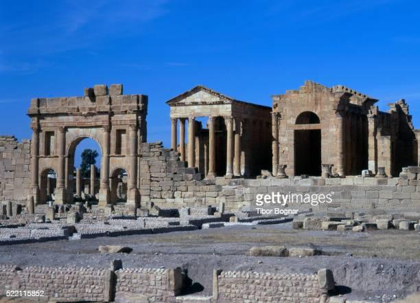 tunisia, sbeitla, roman ruins - kairwan stock pictures, royalty-free photos & images