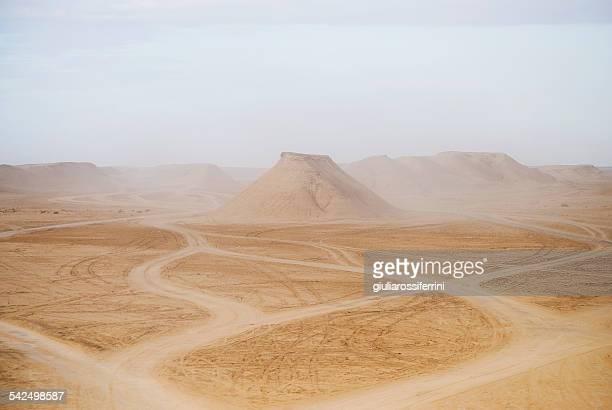 Tunisia, Tozeur, View of desert landscape