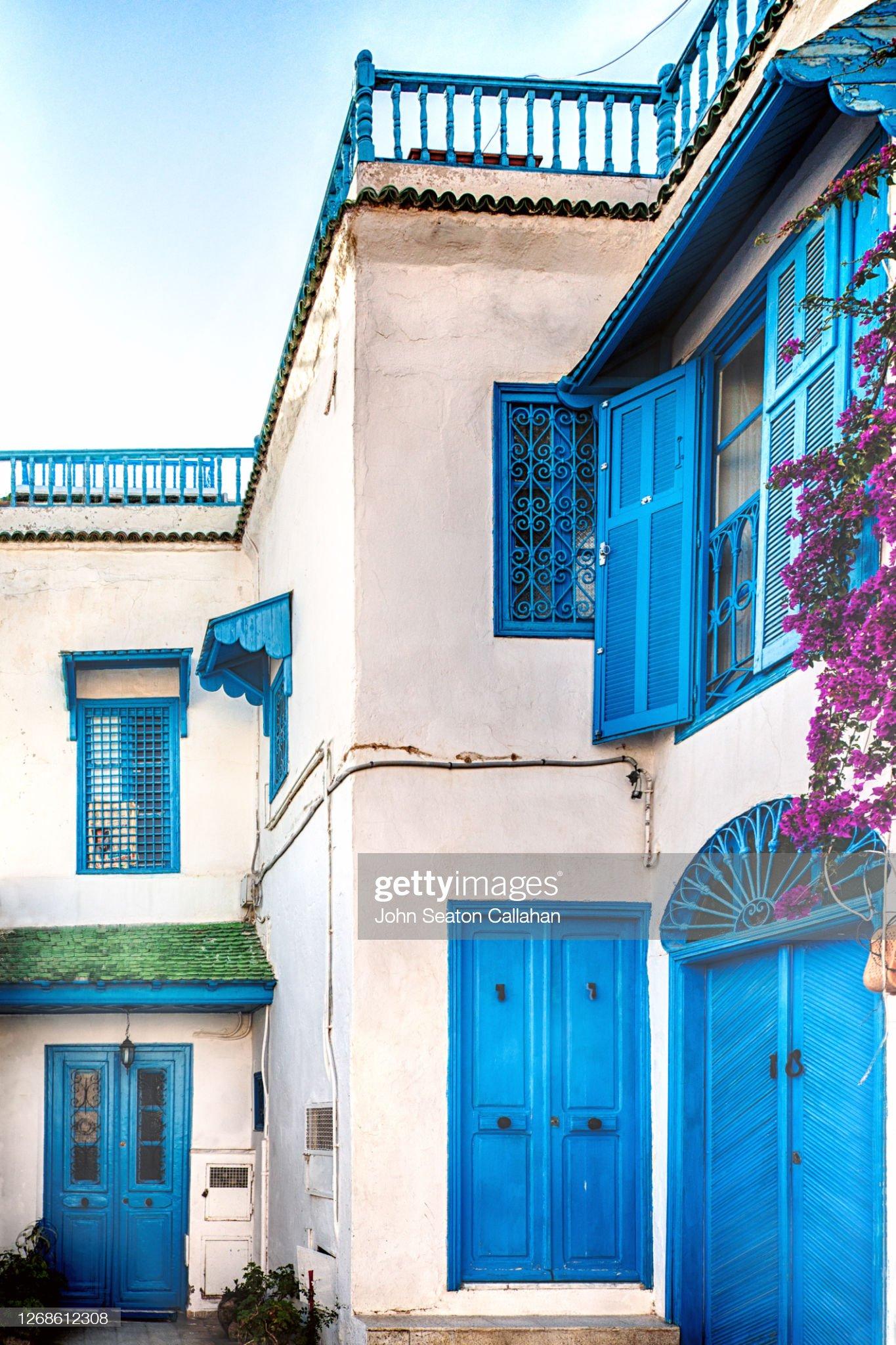 Tunisia, Traditional Architecture in Sidi bou Said : Foto stock