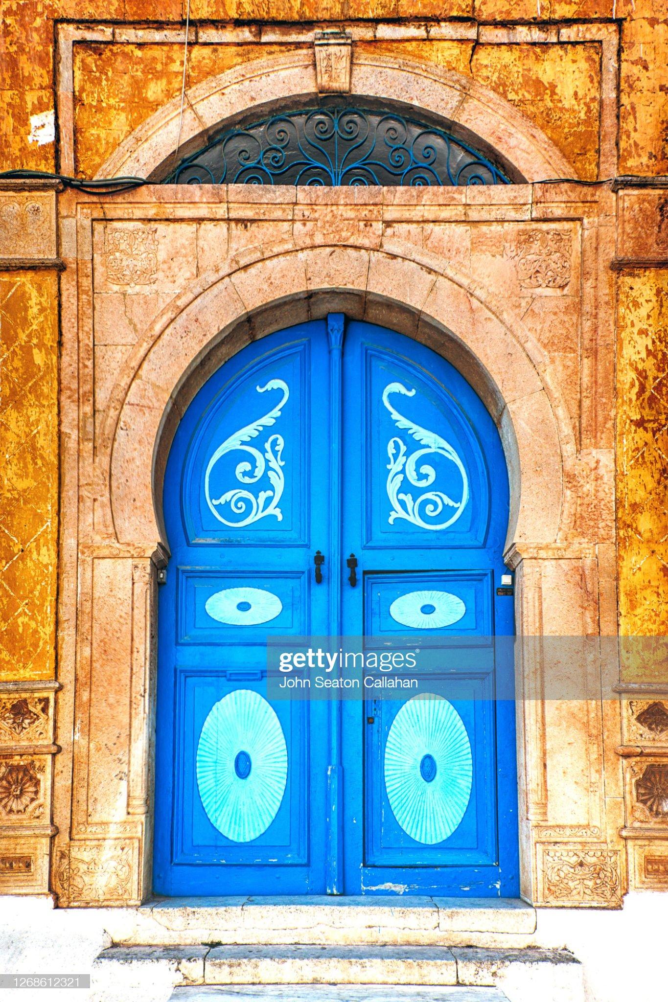Tunisia, Traditional Door in Sidi bou Said : Foto stock